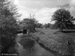 Sandhurst, River Blackwater And Church 1939