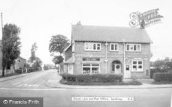 Sandiway, School Lane And Post Office c.1960