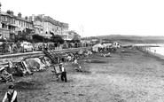 Sandown, the Beach c1950