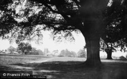 Sandringham, Church Of St Mary Magdalene From The Park c.1930