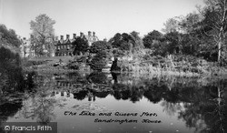 The Lake And Queen's Nest c.1955, Sandringham