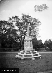 Sandringham, The War Memorial c.1930