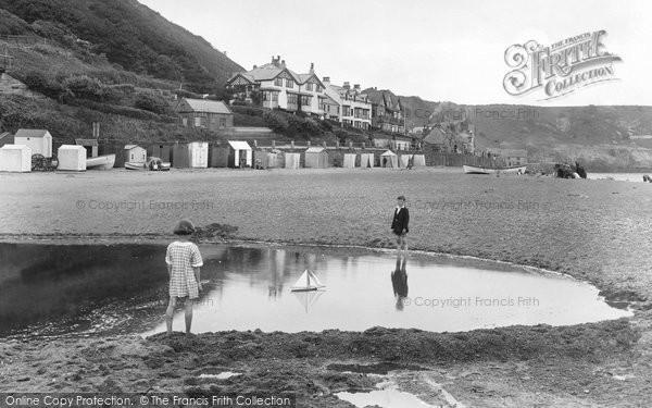 Photo of Sandsend, Children on the Beach 1925