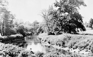 Sandy, River Ivel and School c1955