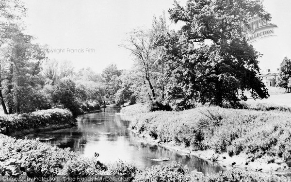 Photo of Sandy, River Ivel and School c1955, ref. S61002
