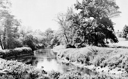 Sandy, River Ivel And School c.1955