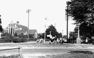 Sarisbury Green, Congregational Church and War Memorial c1955