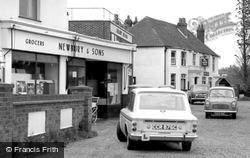 Sarisbury Green, Newbury & Sons Grocers c.1965, Sarisbury