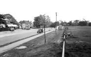 Sarisbury Green, the Post Office and Green c1955