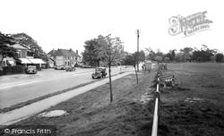 Sarisbury Green, The Post Office And Green c.1955, Sarisbury