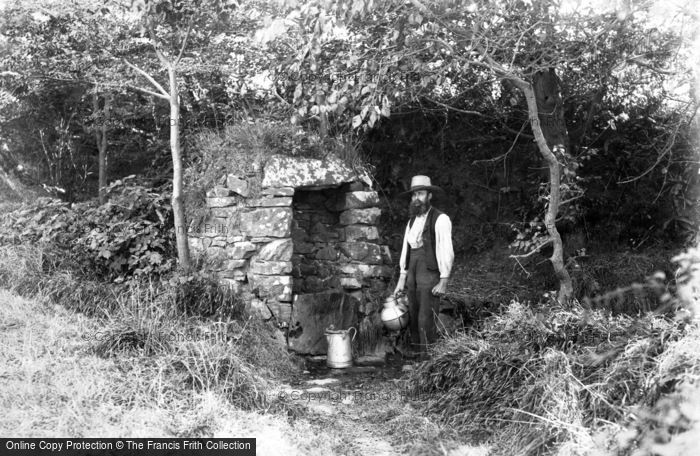 Photo of Sark, A Well c.1900