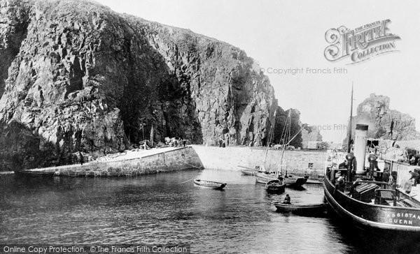 Photo of Sark, Creux Harbour 1894
