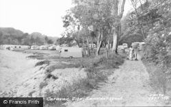 Saundersfoot, Coppit Hall Caravan Site c.1960