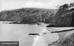 Saundersfoot, Monkstone Beach c.1948