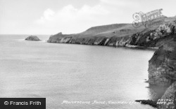 Saundersfoot, Monkstone Point c.1955