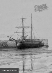 Saundersfoot, Ship In Harbour 1898