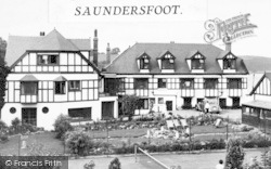 Saundersfoot, St Brides Hotel c.1955