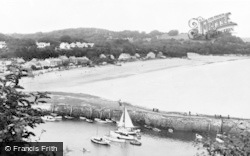 Saundersfoot, The Village And Harbour c.1955