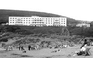 Saunton, the Saunton Sands Hotel c1955