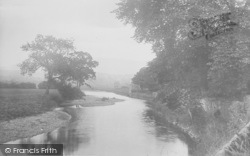 Sawley, The River Ribble From The Bridge 1921