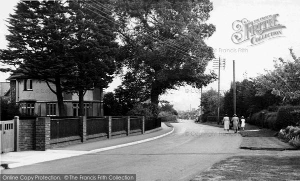Photo of Saxmundham, Rendham Road c.1955