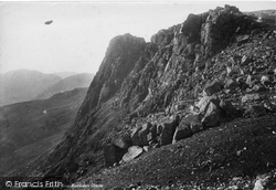Scafell Pike, The Pinnacle From Mickledore Chasm 1889