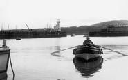 Scarborough, Boat Entering The Harbour c.1955