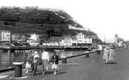 Scarborough, Castle From The East Pier 1958