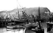 Scarborough, Castle Hill From The Harbour 1890
