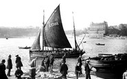 Scarborough, From The Fish Pier 1890