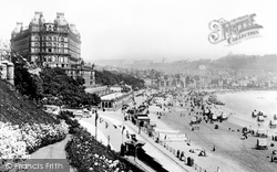 Scarborough, Grand Hotel And Foreshore Road 1891