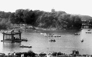 Scarborough, Peasholm Park, Boating Lake c.1955