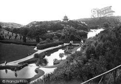 Scarborough, Peasholm Park, The Pools c.1955