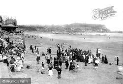 Scarborough, Puppet Show On The Beach c.1885