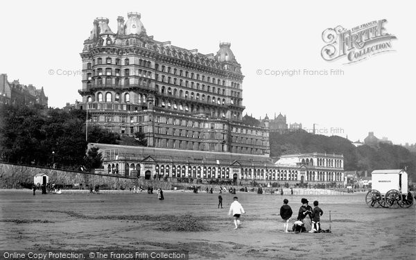 Photo Of Scarborough  Sands And Grand Hotel 1890