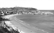 Scarborough, Sands And Harbour c.1955