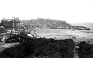 Scarborough, South Bay And The Grand Hotel c.1885