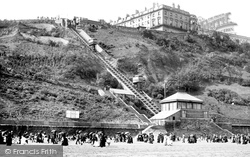 Scarborough, South Cliff Tramway 1890