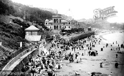 Scarborough, Spa Promenade And Sands 1890