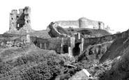 Scarborough, The Castle c.1955