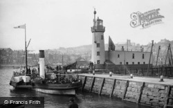 Scarborough, The Pierhead And Lighthouse 1890