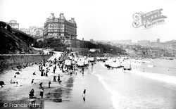 Scarborough, The Sands And Grand Hotel 1890