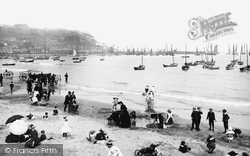 Scarborough, The Sands And The Harbour 1890