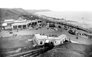 Scarborough, View From North Cliff c.1955