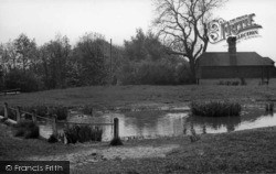 Scaynes Hill, The Pond And Blue Anchor c.1955