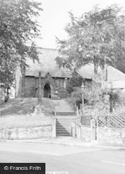 Scotby, All Saints Church And Memorial c.1955