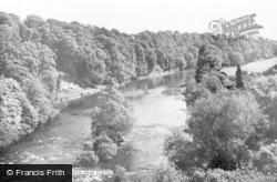 Scotby, The River Eden c.1955