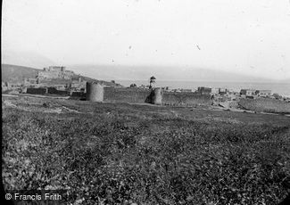 Sea of Galilee, and Tiberias c1867