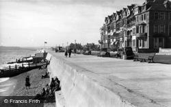Seaford, Beach And Sea Wall c.1950