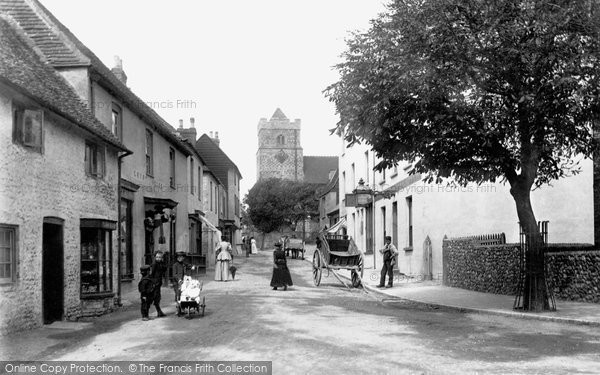 Photo of Seaford, Church Street 1894